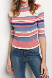 Gilli Striped Fitted Turtleneck Sweater - Product Mini Image