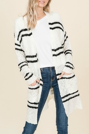 Reborn J Striped Sweater Cardigan - Product Mini Image