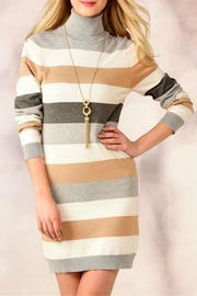 Charlie Paige Striped Sweater Dress - Product Mini Image