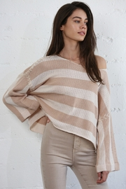 By Together Striped Sweater Top - Product Mini Image