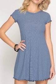 She + Sky Striped Swing Dress - Product Mini Image