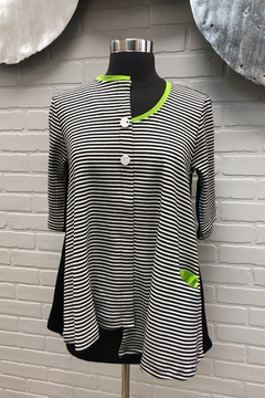 Chiara Cocol  Striped Swing Top - Product List Image