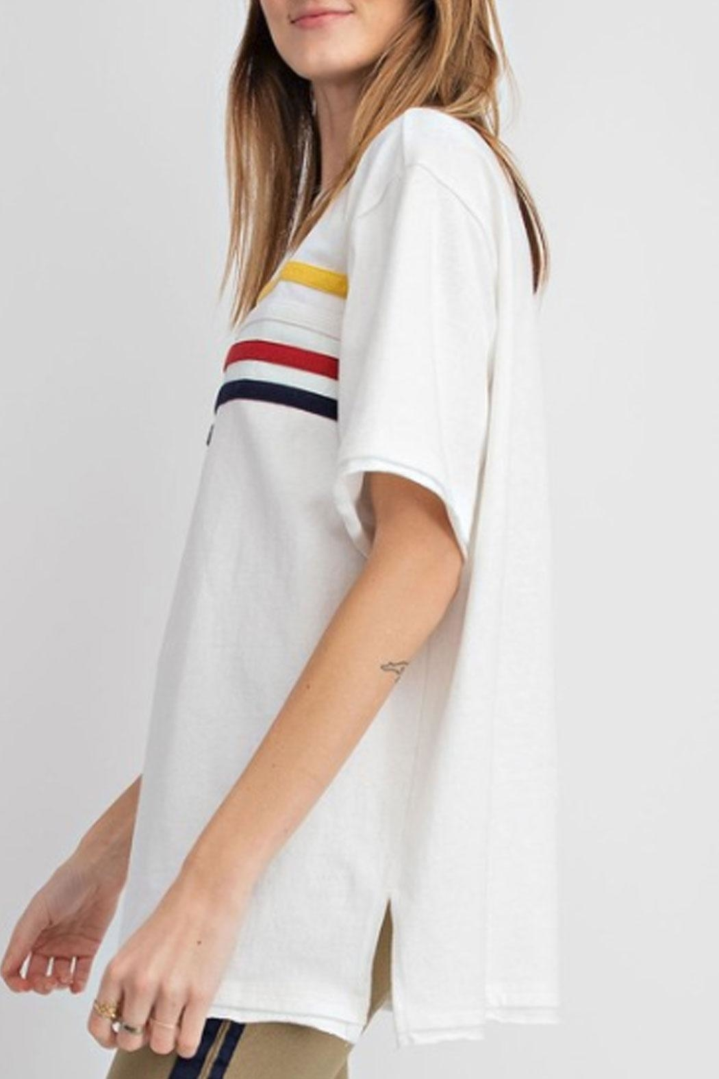 easel Striped T-Shirt - Side Cropped Image