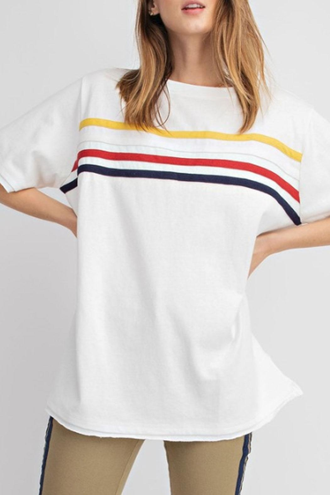 easel Striped T-Shirt - Front Full Image