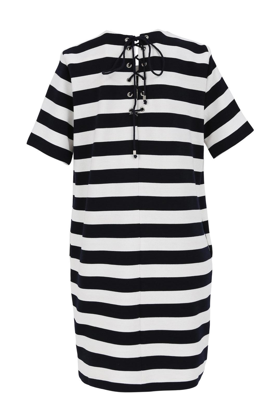 FRNCH Striped T-Shirt Dress - Front Full Image