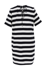 FRNCH Striped T-Shirt Dress - Front full body
