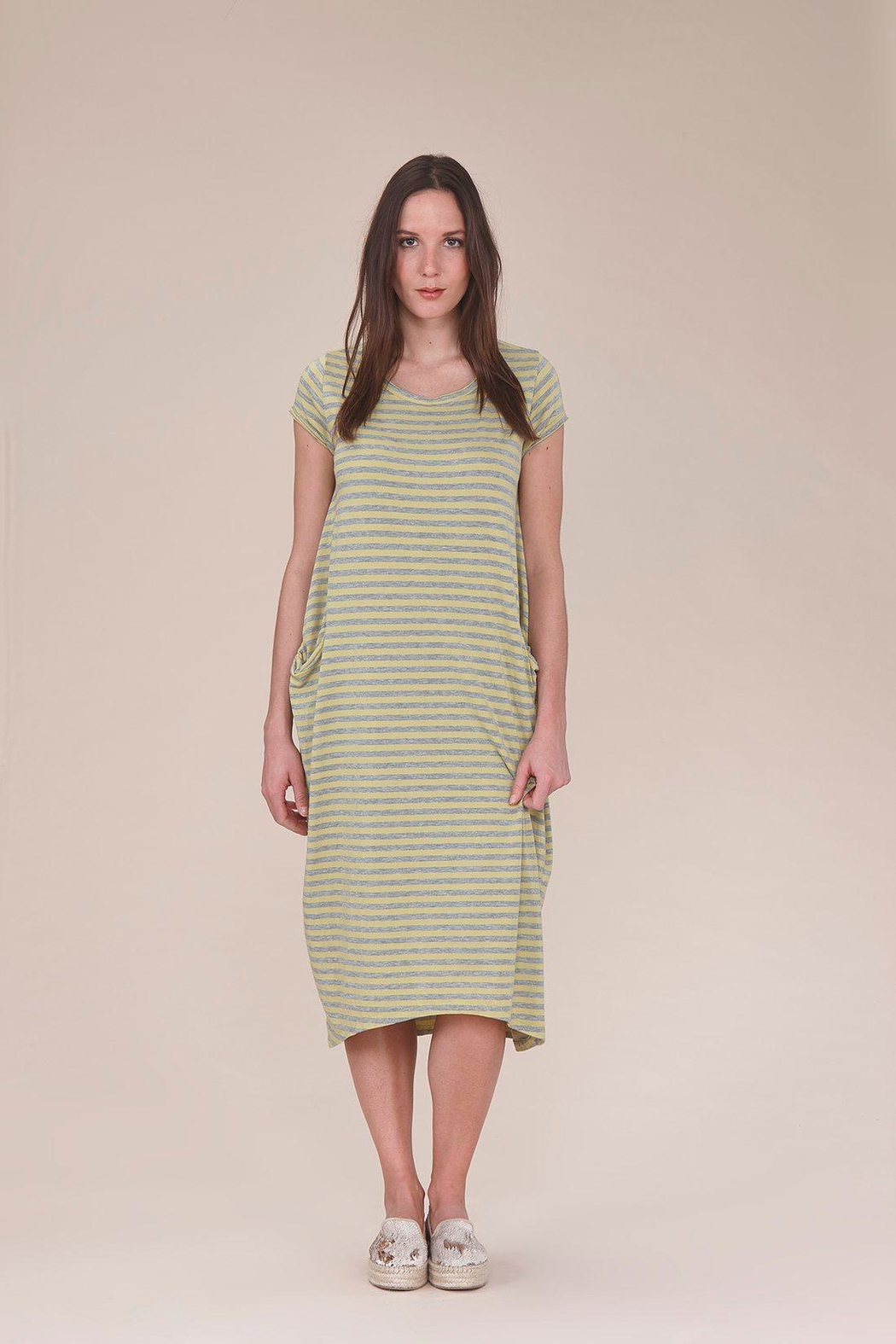 UCHUU Striped T-Shirt Dress - Main Image