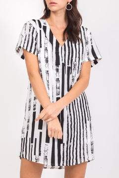 Very J Striped T-Shirt Dress - Product List Image