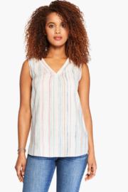 Nic +Zoe Striped tank - Front cropped