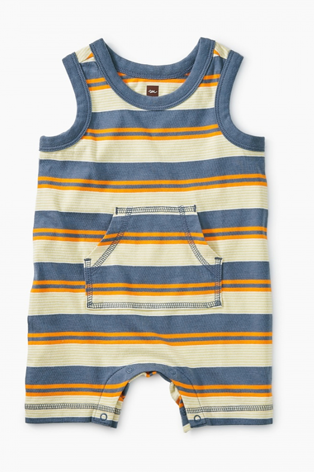 Tea Collection Striped Tank Romper - Main Image