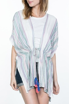 Shoptiques Product: Striped Tassel Cardigan