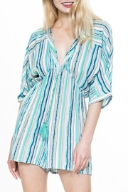 En Creme Striped Tassel Detail Romper - Product Mini Image