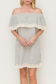 Hem & Thread Striped Tassel Dress - Product Mini Image