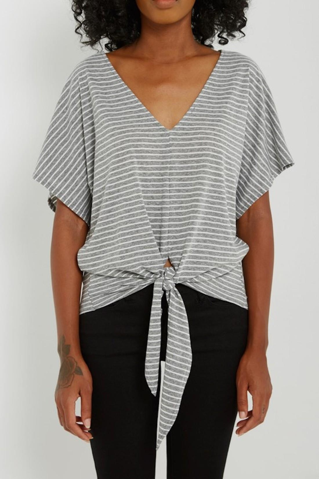 Soprano Striped Tee Tie - Front Cropped Image
