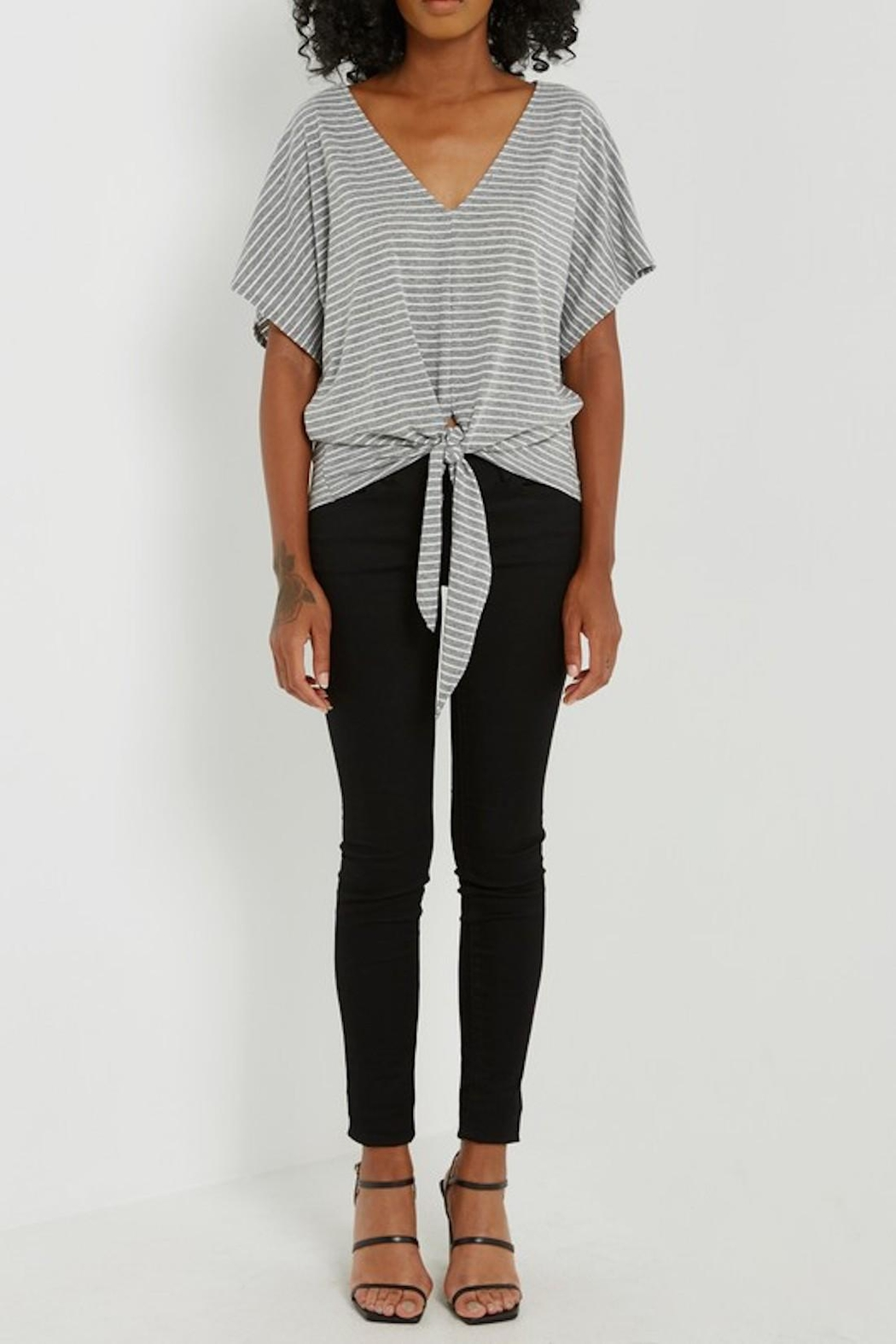 Soprano Striped Tee Tie - Side Cropped Image