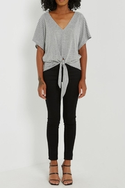 Soprano Striped Tee Tie - Side cropped