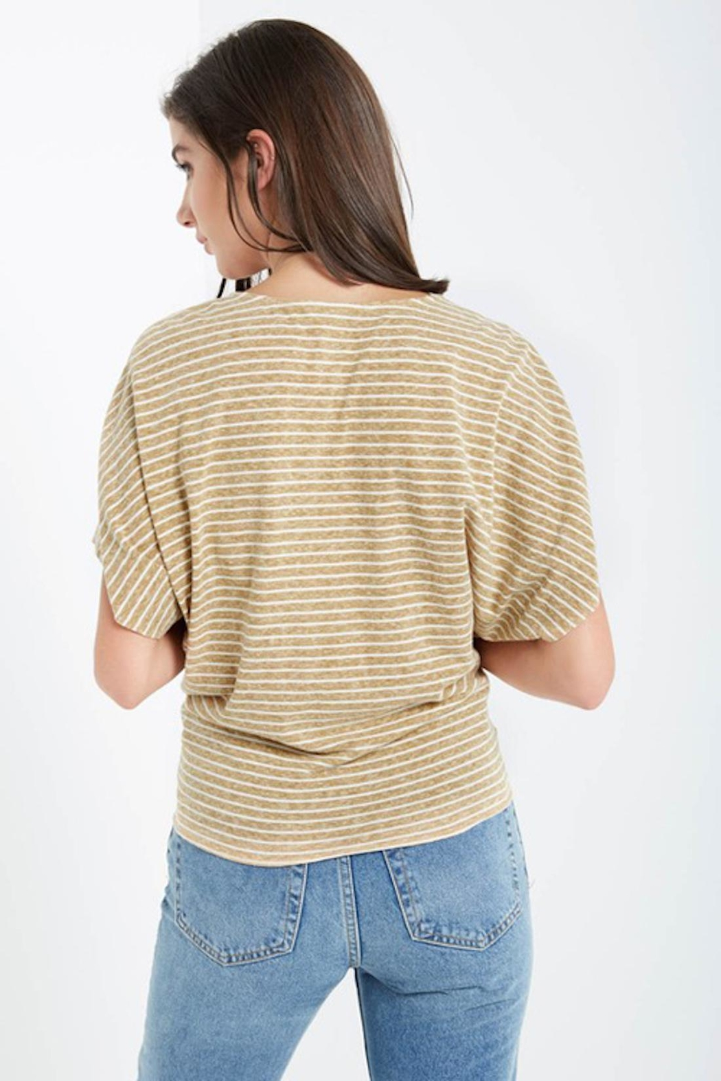 Soprano Striped Tee Tie - Back Cropped Image