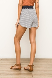 Hem & Thread Striped Terry Shorts - Back cropped