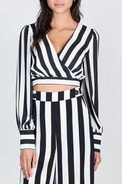 essue Striped Tie Back Top - Product List Image