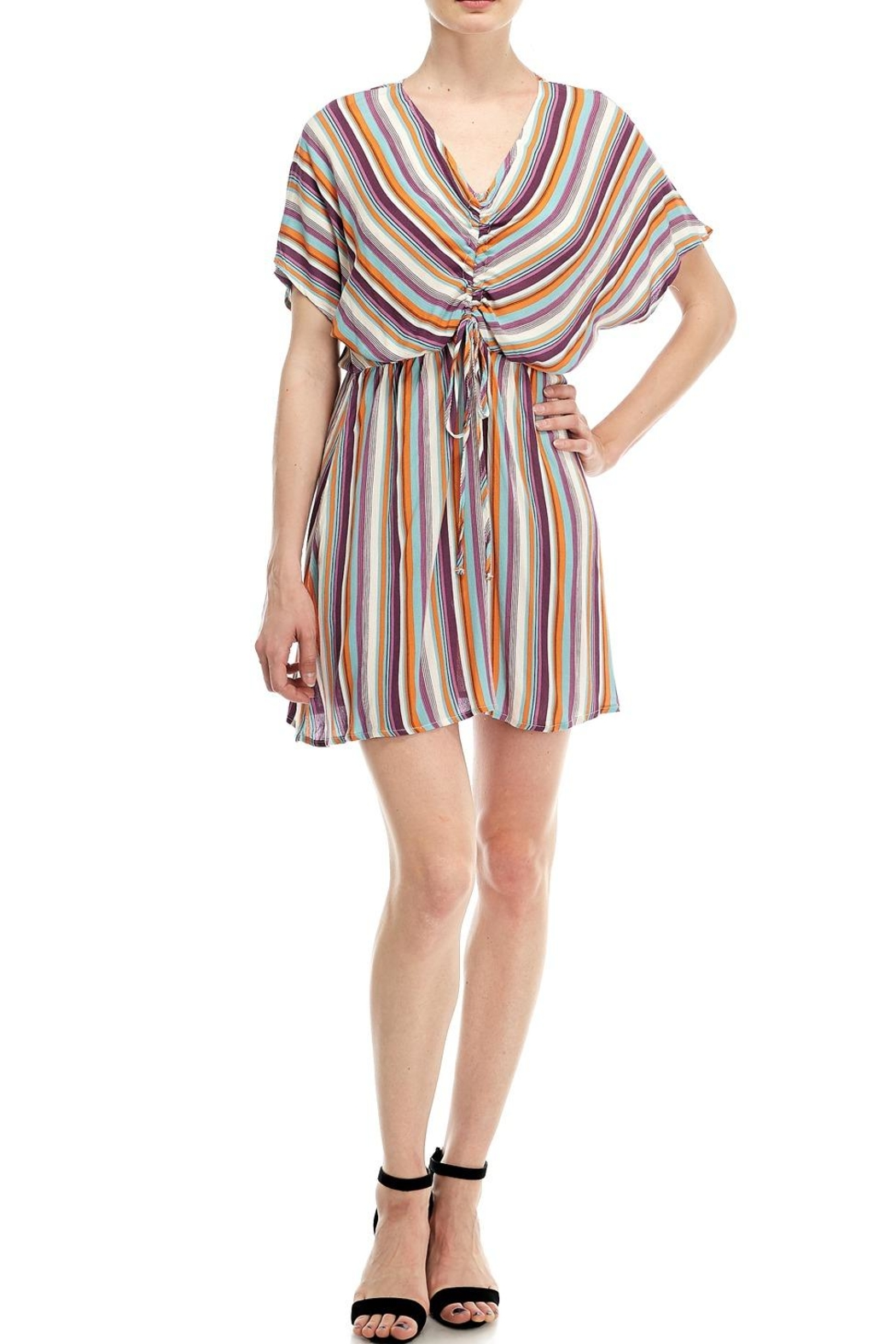 All In Favor Striped Tie Dress - Main Image