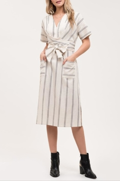 Blu Pepper Striped Tie Dress - Alternate List Image