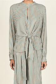 Current Air Striped tie front blouse - Product Mini Image