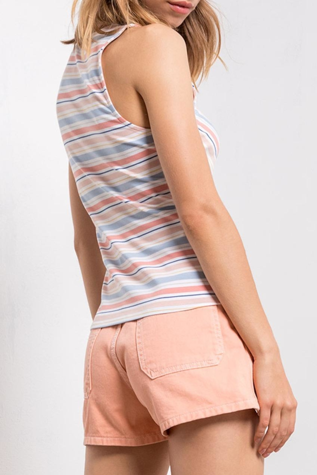 Others Follow  Striped Tie-Front Tank - Front Full Image