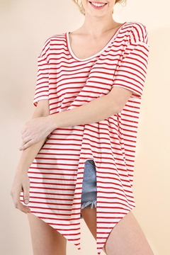 Umgee USA Striped Tie-Front Top - Product List Image