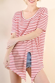 Umgee USA Striped Tie-Front Top - Product Mini Image