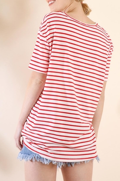 Umgee USA Striped Tie-Front Top - Alternate List Image