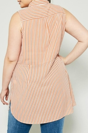Hayden Los Angeles Striped Tie-Front Tunic - Side cropped