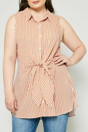 Hayden Los Angeles Striped Tie-Front Tunic - Product Mini Image