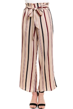 Illa Illa Striped Tie Pants - Product List Image