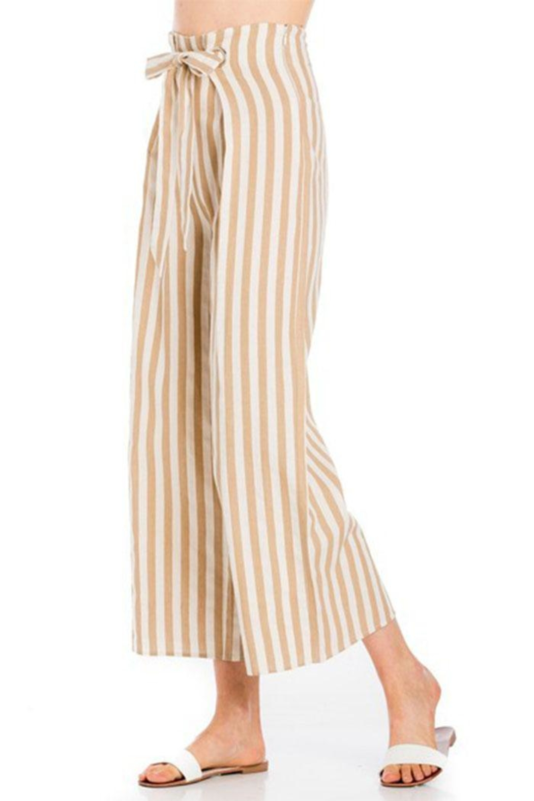 lunik Striped Tie Pants - Front Full Image