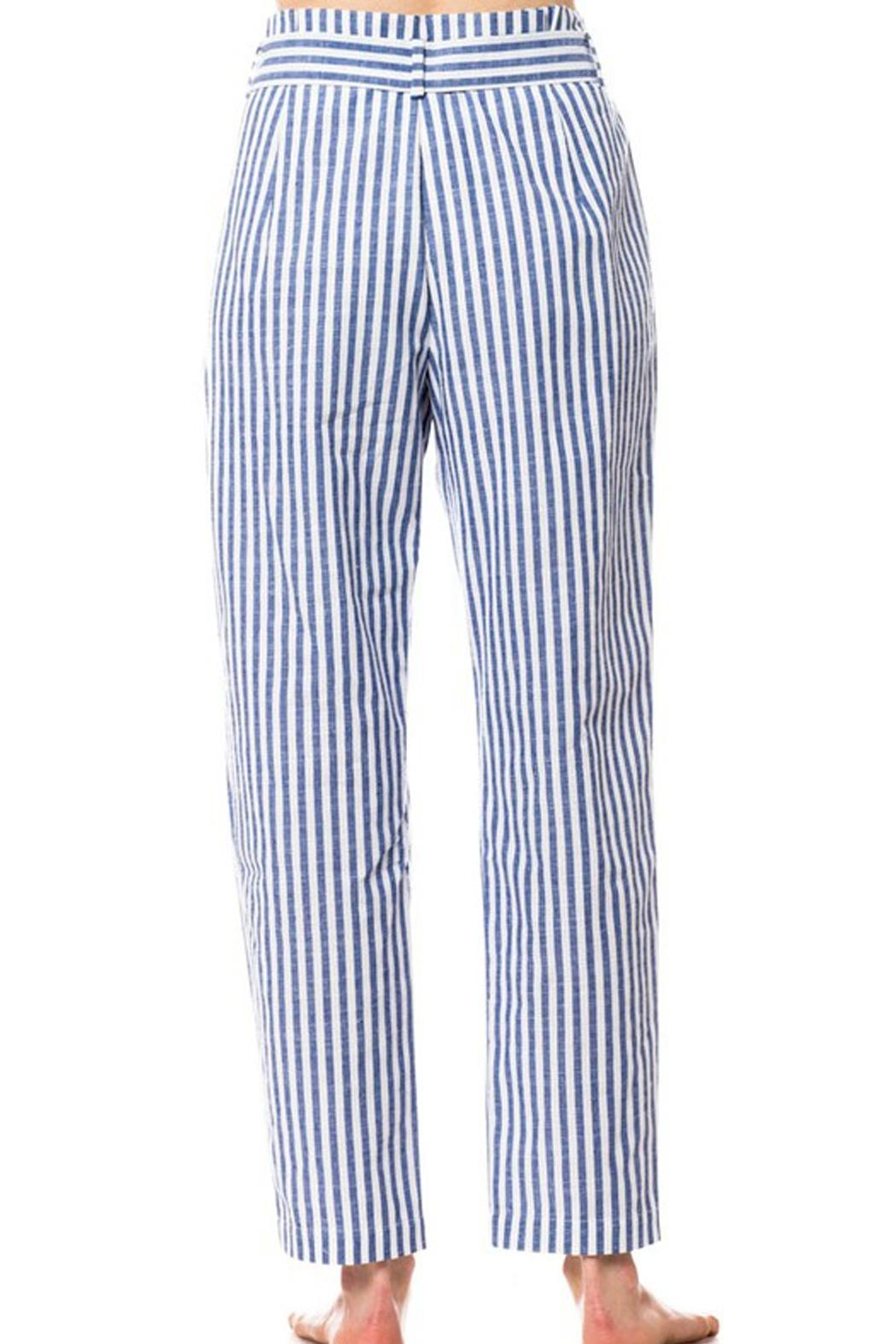 Love Tree Striped Tie Pants - Side Cropped Image