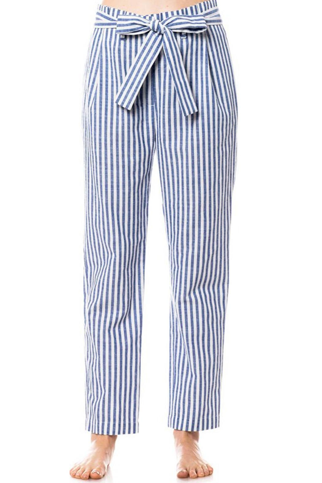 Love Tree Striped Tie Pants - Front Full Image