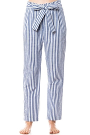 Love Tree Striped Tie Pants - Front full body