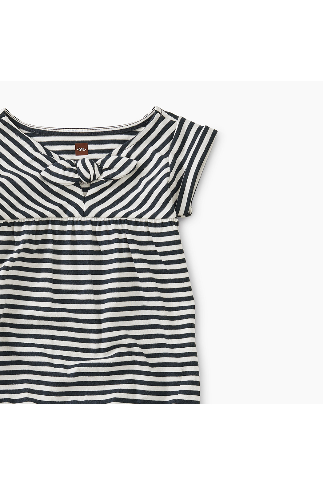 Tea Collection Striped Tie Romper - Front Full Image