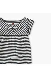 Tea Collection Striped Tie Romper - Front full body