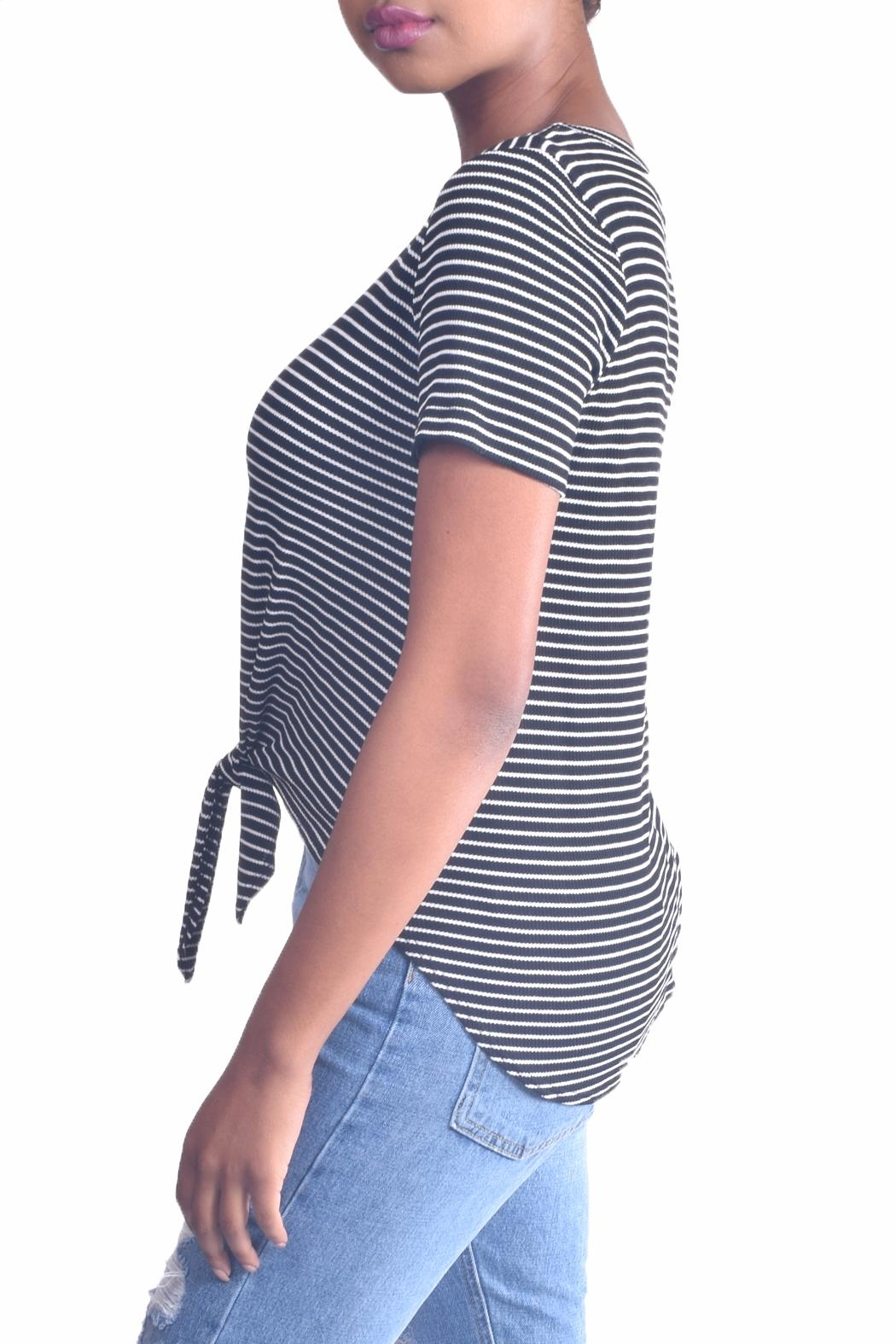 Final Touch Striped Tie Tee - Front Full Image
