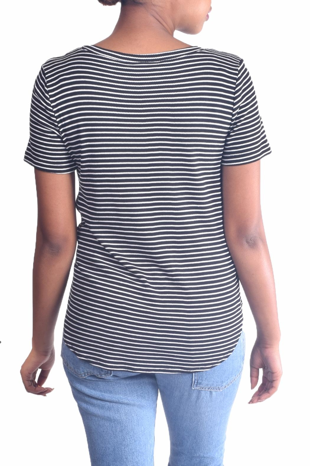 Final Touch Striped Tie Tee - Side Cropped Image