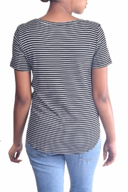 Final Touch Striped Tie Tee - Side cropped