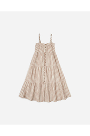 Rylee & Cru Striped Tiered Maxi Dress - Front cropped