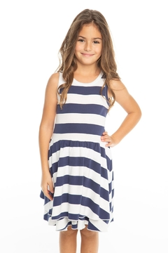 Shoptiques Product: striped tiered tank dress
