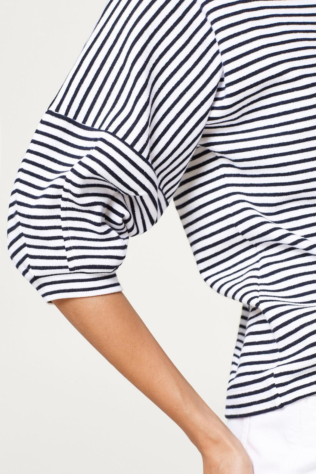 Esprit Striped Top - Back Cropped Image