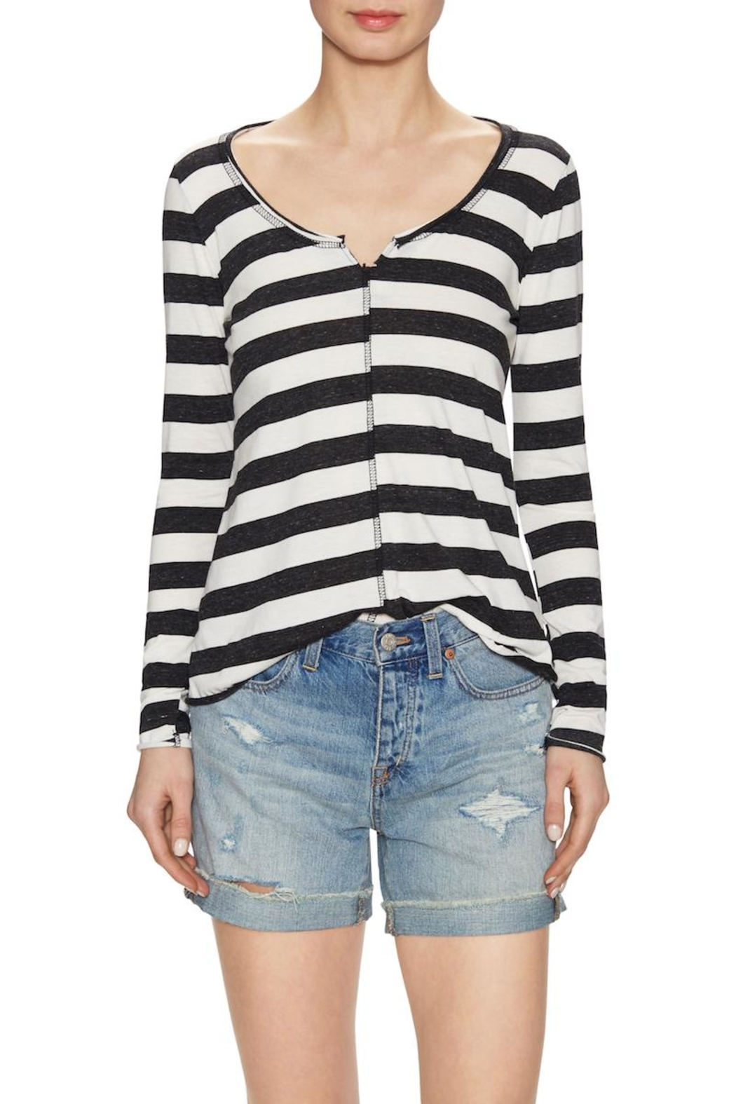 NYTT Striped Top - Front Cropped Image