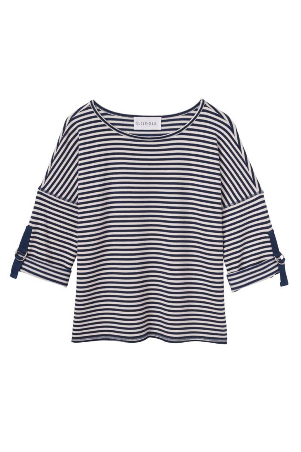 Olive and Oak Striped Top - Main Image