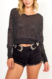 Olivaceous Striped Top - Product Mini Image
