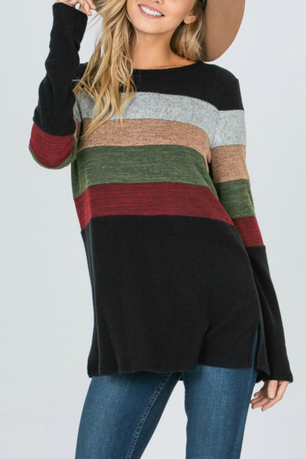 Hailey & Co Striped Top - Main Image