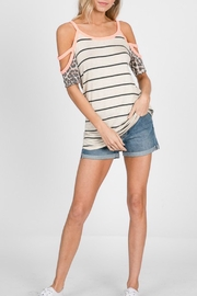 7th Ray Striped Top - Product Mini Image